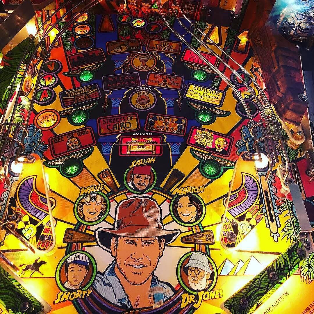 See you tomorrow, Indiana Jones  @chicagolandpinball
